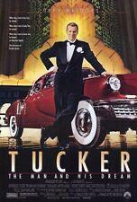 TUCKER: THE MAN AND HIS DREAM Movie POSTER 27x40 Jeff Bridges Martin Landau Dean