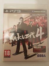 Yakuza 4 para Playstation 3 ps3 pal España nuevo y sellado de fabrica