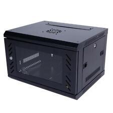 6U Professional Wall Mount Network Server Cabinet Enclosure Rack Glass Door Lock