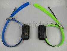 2*GARMIN DC40 GPS dog collar for ASTRO220/320 USA Version (Green & Blue strap)