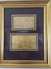 O'Brien 99.9% Pure Gold Notes B271,B277 Framed (Royal Mint) Ltd Edition 699/1000