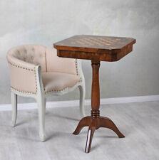 Schachtisch barock Spieltisch Massivholz Intarsien Beistelltisch