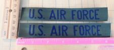 USAF Air Force TAPE PATCH  TAB US Military new set pair of 2 Green