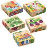 Puzzle di ordinamento impilabile in blocchi di legno Gioco per bambini