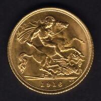 Australia.  1916 Sydney - Half Sovereign..  Full Lustre..  aU/UNC