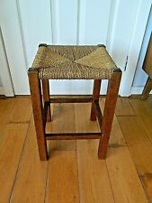 Vintage Retro Lovely Medium Wooden Stool with String Seat