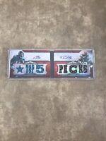 2012 Topps Triple Threads Auto Relic Pairs Trent Richardson Justin Blackmon /18