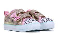 "SKECHERS Kids Twinkle Toes LIGHT-UP Shuffles Sneaker Toddler SIZE 6-6.25"" LENGTH"