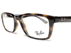 NEW Ray Ban RB7063 5577 Men's Tortoise & Brown Modern Rx Eyeglasses Frames 52/18