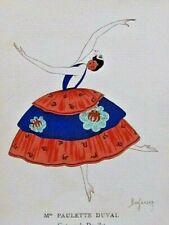Barjansky Mlle Paulette Duval Gazette Bon Ton 1920 Pl. 5 Art-Déco Danseuse