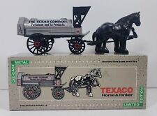 Ertl 1900s Texaco Horse and Tanker Die Cast Metal Coin Bank and Box Limited Ed.