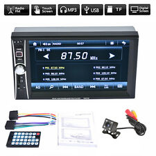 6.6'' 2 Din HD Touch Screen Car FM Radio MP5 Player Bluetooth Audio Video+Camera