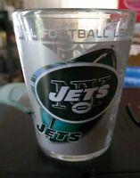 USED OFFICIAL LICENSED NFL *NEW YORK JETS* 2 OZ SHOT GLASS 3D HIGH-DEF PRINT