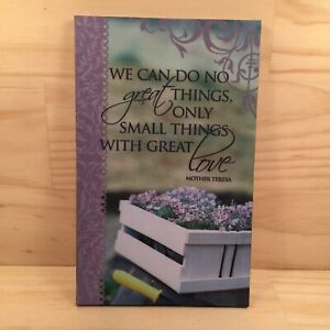 """SMALL THINGS WITH GREAT LOVE... """"Purple"""" Inspirational Quote Picture Plaque"""