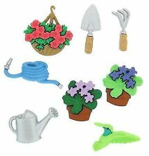 Dress It up Gardening Watering Can Hanging Flower Basket Novelty Buttons