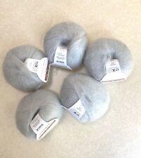New, Southampton Valley Yarns light gray yarn, 72% kid mohair, 28% mulberry silk