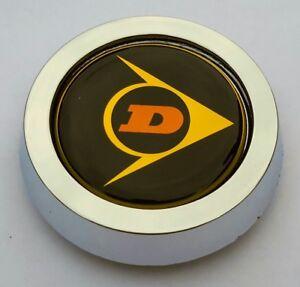 4x DUNLOP D1 CLASSIC  ALLOY WHEEL FITMENT CHROME CENTER CENTRE CAPS (NOT OEM)