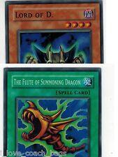 Lord of D. SDK-041 + SDK-042 The Flute of Summoning Dragon yugioh