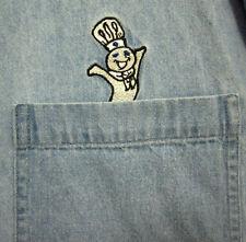 PILLSBURY DOUGH BOY large button-down shirt Poppin Fresh blue-jean sewn