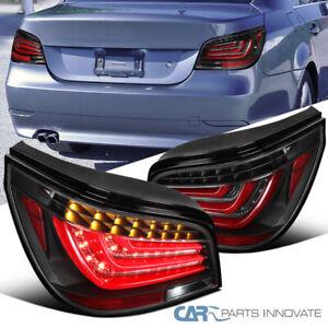 For 04-07 BMW E60 5-Series 525i 530i 540i Red LED Bar Tail Lights Brake Lamps