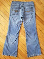Jordache Gold Straight Flare Size 11 12 Vintage Jeans Light Wash Bell Bottom