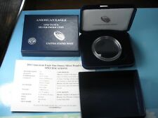 2013 SILVER PROOF EAGLE ORIGINAL MINT PACKAGING, CAPSULE, CERTIFICATE NO COINS