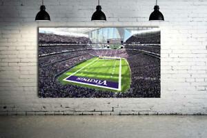 Minnesota Vikings Stadium Canvas Print 36 x 24 Panoramic Effect US Bank Stadium