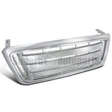2004-2008 Ford F150 Pickup Front Billet Bar Style Hood Grille Grill Chrome