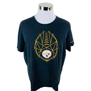 Nike Dri-Fit Pittsburgh Steelers Black Short Sleeve T-Shirt Men's XL X-Large