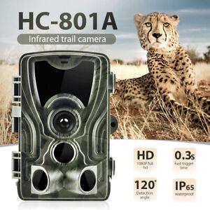 Wildkamera 20MP 1080P Fotofalle Nachtsicht Jagdkamera Wildtierkamera Außenkamera