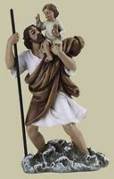 "SALE! New 4"" Saint ST Christopher Chris Figurine Statue Gift Communion Baptism"
