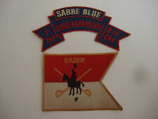 2 Vietnam War Patches: F Troop 9th Cav SABRE BLUE + F Troop 9th Cavalry SABRE