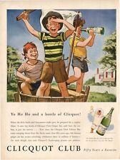 1943 Clicouot Club PRINT AD  Boys play pirate Eskimo boy logo