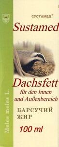 Dachsfett, Naturprodukt, Badger fat, барсучий жир, 100 ml