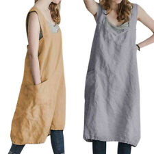 Womens Plus Size Baggy Plain Pinafore Ladies Dungaree Causal Midi Dresses Wrap