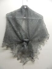 RUSSIAN ORENBURG LACE KNITTED SHAWL SCARF (PASHMINA) COLOR GRAY (GREY)