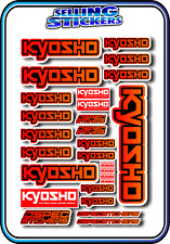 KYOSHO MODEL RC CAR DRONE BOAT BUGGY MINI Z STICKERS DECALS ROBOT R/C RED/ORA B