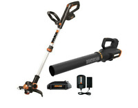 WORX WG921 20V Max Cordless Trimmer and Blower WG163.9, WG547.9