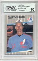 1989 Fleer Randy Johnson Rookie Card PGI 10 BIG UNIT