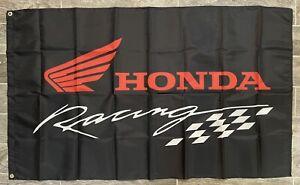 Honda Racing Motorcycle Flag Banner Logo CBR Gold Wing 3X5 Garage Shop