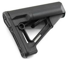 4 STR battery stock with  RUBBER BUTT-PAD Black,  AIRSOFT STOCK