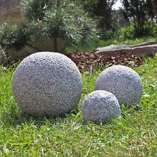 CLGarden 3 Granitkugeln 10 15 20 cm Granit Kugel Set Garten Kugeln Granitkugel