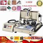 1500W USB CNC 4 Axis 6040T Router Engraver PCB PVC Milling Driiling Machine DIY