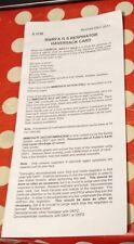 GS Respirator Haversack Card RN/RFA Issue CBRN NBC GSR