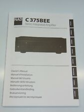 NAD Manual C375BEE Stereo Integrated Amplifier