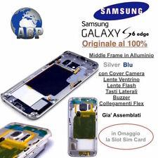 Middle Frame Telaio Alluminio Samsung Galaxy S6 edge G925f Black Blu Originale