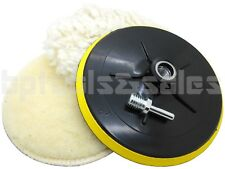 "4pc 7"" Polishing Wheel Bonnet Set Soft Quick Fit Backing Pads w/ Drill Adapter"