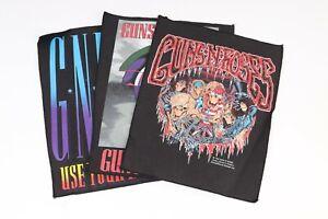 VTG LOT/3 1992 Guns N Roses Back Patch Rock Metal BROCKUM USA