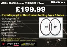 Vision Team 30 Comp Alloy Wheel Set + Tyres + Tubes 700C Road Bike Cycle Pair
