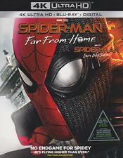 SPIDERMAN FAR FROM HOME 4K ULTRA HD & BLURAY & DIGITAL SET with Tom Holland